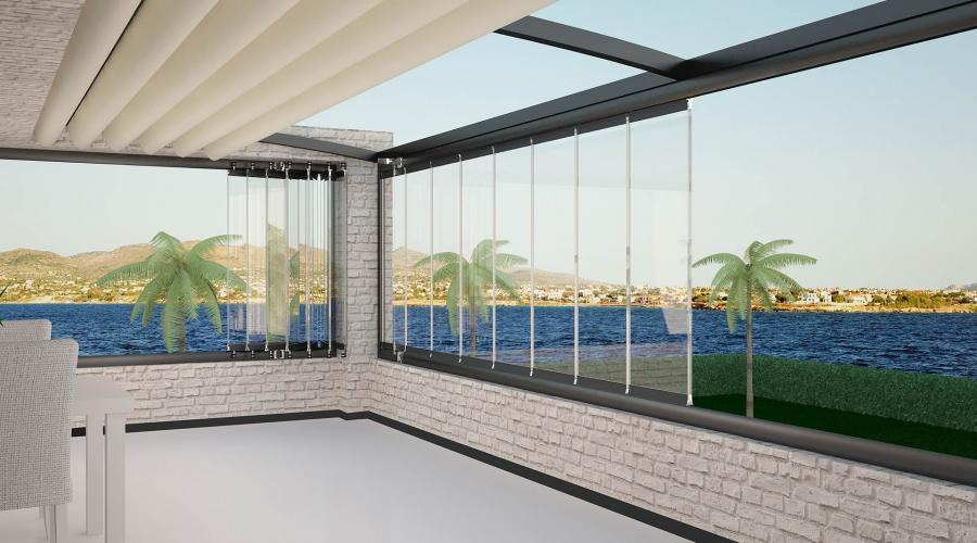 Yüksek Teknolojide Katlanır Cam Balkon Sistemleri